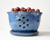 Ceramic Berry Bowl, Pottery Berry Bowl, Wheel Thrown Pottery