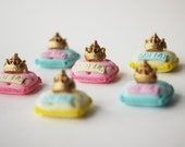 Fondant Princess Cupcake Toppers - Perfect for Princess Party - Princess Cake Topper - Fondant Carriage - Princess Crown Fondant Topper