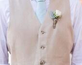 Mint Chambray Necktie~Cotton Necktie~Anniversary Gift~Wedding Tie~Mens Necktie~Cotton Tie~Mens Tie~Boys Necktie~Mint Tie~Mint Wedding~Classy