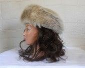Vintage Fur Hat Women Winter Hat 60s Hat Warm Winter Hat 60s Hat 1960s Hat Ladies Winter Hat