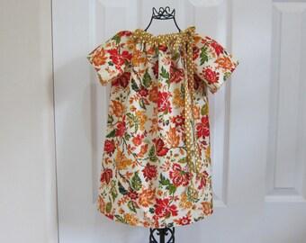Peasant Dress  -   FALL DRESS -   Christmas Dress  -  Toddler Girls  -   4T  Dress -  Ready to ship  By Emma Jane Company