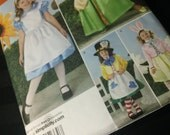 Simplicity Pattern 2330 ~ Girl's Alice in Wonderland, Mad Hatter, White Rabbit & Princess Cut Costume Sewing Pattern ~ Size 3 4 5 6 7 8