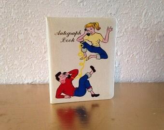 Vintage Autograph Book, Blank Autograph Book, Vintage Souvenir, Vintage Teenager, Teeny Bopper