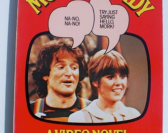 Mork & Mindy A Video Novel vintage paperback Robin Williams 1978 Richard Anobile