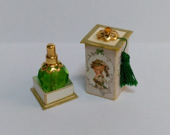 Perfume bottle with your green box