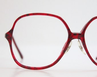 Vintage Oversized Garnet Tortoise Eyeglasses Sunglasses
