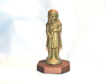 Sweet Little Girl Statue Vintage Beauty --  Spelter, 1900