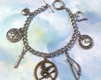 Mockingjay Inspired Charm Bracelet