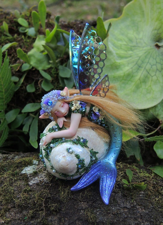 A Mermaid Fairy by Celia Anne Harris OOAK