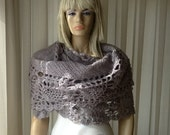 COZY Shawl Light - Wedding Shawl / Bridal Shawl / Pineapple Shawl / Crochet Shawl / Crochet Wrap Stole / Rectangular Shawl / READY to SHIP