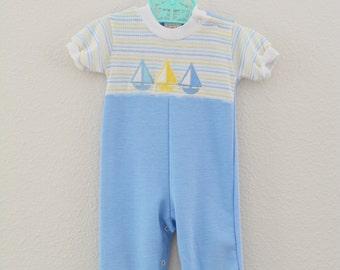 Baby Boy Vintage Outfit Health Tex
