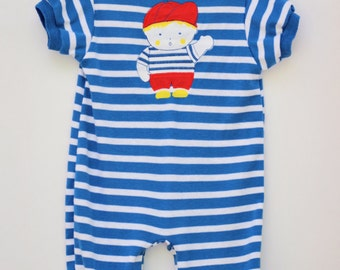Vintage Boys Romper 1980s Health-tex Outfit