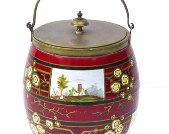 Vintage Cookie Jar Vintage Biscuit Barrel Antique Ice Bucket Serving Kitchenalia Kitchen Storage Table Vintage Housewares