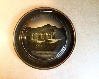 Antique souvenir Hanging Plate Holyrood Palace Edinburgh Scotland