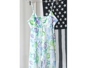 Pretty Fish and Sea Creatures Print Silky Partially Sheer Super Short Slip Dress/Top