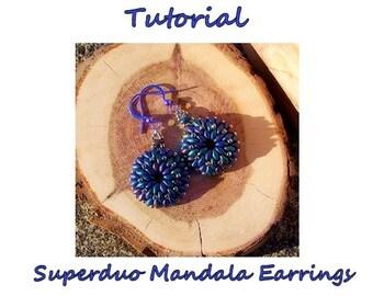 Superduo Mandala Earrings Tutorial - digital download