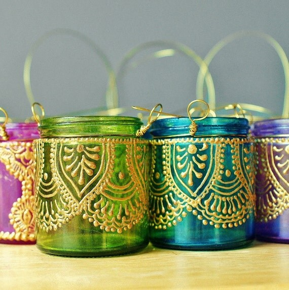 Four Moroccan Lantern Votives