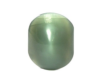 Russian Green Nephrite Jade with Cat's Eye Schiller Semiprecious Gem Stone Loose Unset Gemstone Cabochon Silky Chatoyancy Collector's Jewel