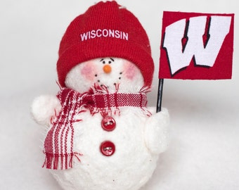 University of Wisconsin Snowman Ornament