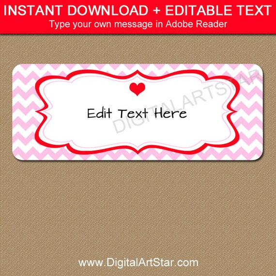 Valentines Day Return Address Labels  Printable Valentine Address