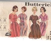 """1960's Butterick One-Piece Shirtwaist Dress pattern - Bust 32"""" - No. 2210"""