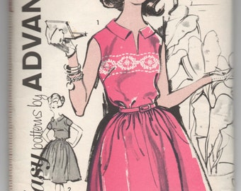 "1960's Sew Easy by Advance Shirtwaist One-Piece Dress pattern - UNCUT - Bust 36"" - No. 2831"