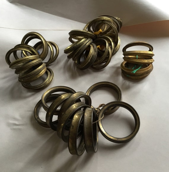 SALE Antique French Large Brass Curtain Rings 1 Set