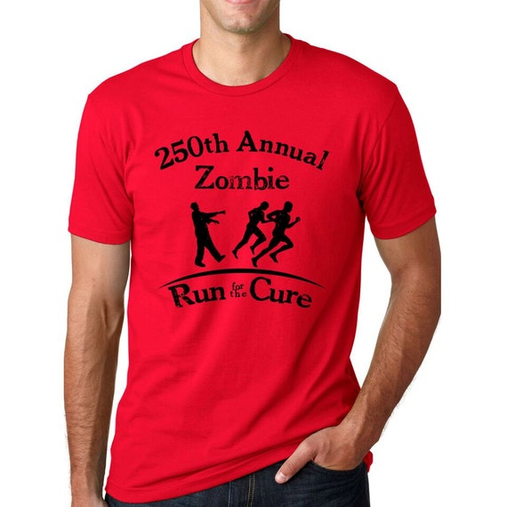 MENS Annual Zombie Run For The Cure T-Shirtundead, dead, halloween spirit, scary, horror, spooktacular S-5XL