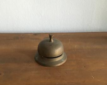 antique hotel bell. brass hotel bell. concierge desk bell. hotel service bell. counter service push bell. teacher gift. housewarming gift.