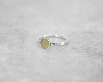 Dot Ring, Circle Ring, Minimalist Ring, Stacking Ring, Modern Ring