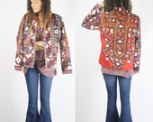 Embroidered Jacket Vintage Banjara textiles, Bohemian Coat Blazer Gypsy Boho jacket Tribal Ethnic Indian Festival OOAK, L