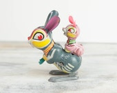 RESERVED, Vintage tin wind up rabbit toy made in Japan