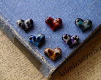 12pcs Large Assorted Heart Acrylic Beads 23mm (AB2892)