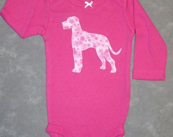 Pick your DOG!  Custom baby bodysuit with dog breed of your choice
