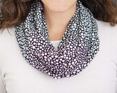 Black and White Polka Dot Pattern Infinity Scarf