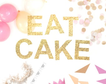 Eat Cake Glitter Garland