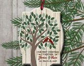 First Christmas Together Ornament First Married Christmas Gift for Newlyweds Wedding Our First Christmas as Mr. and Mrs. Love Birds Tree