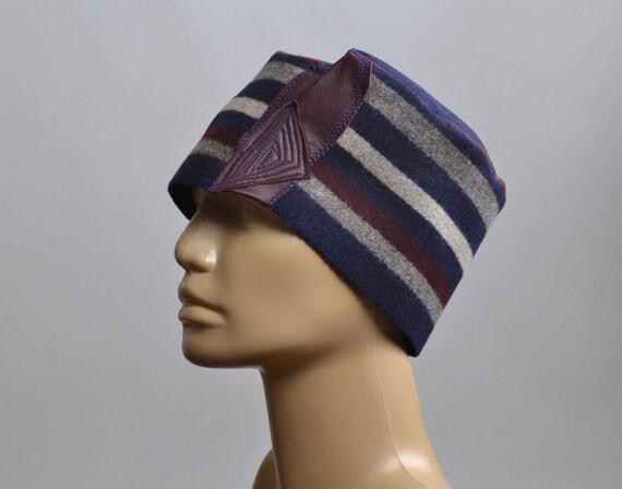 Women's Hat - Repurposed Wool Hat - Blanket Hat - Winter Hats - Warm Hats