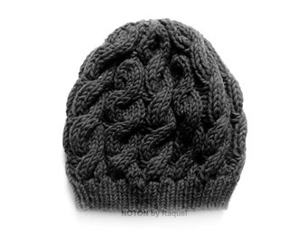 Slouchy Beanie, Winter Hat, Knit Beanie, Slouch Beret