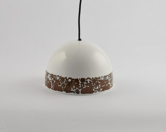 Enamel Pendant Lamp by Kaj Franck & Esteri Tomula for wartsila Arabia Finland, 1960s