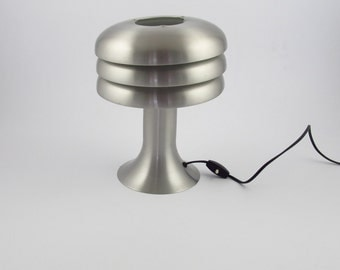 Hans-agne Jakobsson aluminium desklamp, Swedish design table lamp