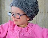 Granny Wig Yarn Wig Old Lady Hat Grandma Hair Bun Style Grey White