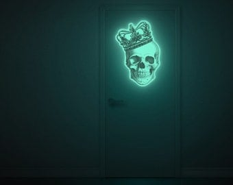 Luminous skull wall-sticker, BIGGEST SMILE (glow in the dark wall-sticker special edition )