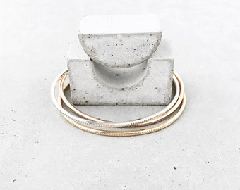 Benchmark Skinny Cuff / sterling silver / thin patterned stacking bracelet