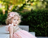 Glitter gold and pink Birthday Outfit..Flower Girl Dress..Tutu Birthday Outfit.Flower Girl Outfit..Pink and gold birthdays.Flower Girl Dress