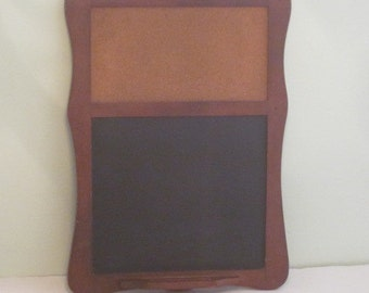 Vintage Cork Chalkboard Memo Board