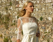 Vintage style bridal cover-up / lace top / overpiece