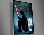 Darth Vader Toilet sign,star wars,movie,art,funny,door sign,PVC,christmas