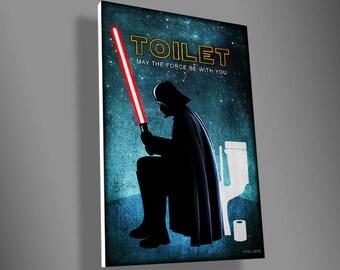 Darth Vader Toilet sign,star wars,movie,art,funny,door sign,PVC,christmas