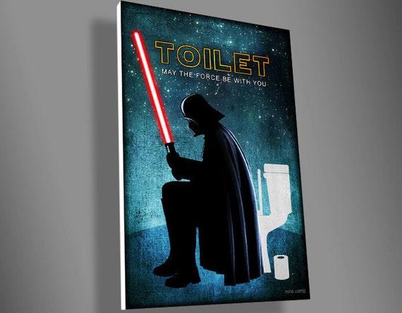 Darth Vader Toilet signstar warsmovieartfunnydoor by TotalLost